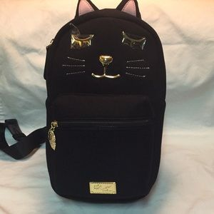 """NWT Betsey Johnson Luv Betsey 💕 backpack """"cat"""""""